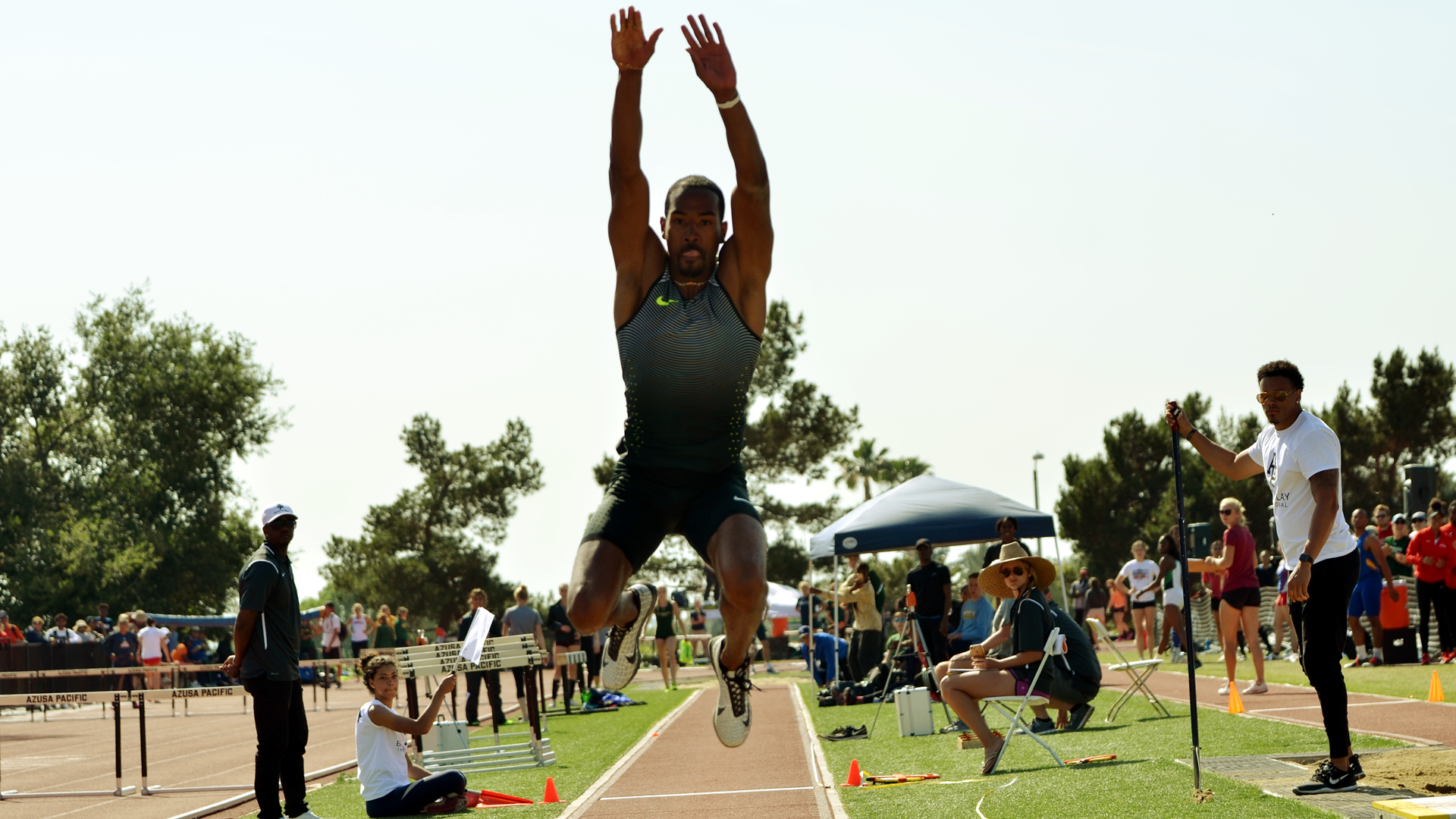 Christian Taylor won the triple jump at the 9th Annual Bryan Clay Invitational on April 14